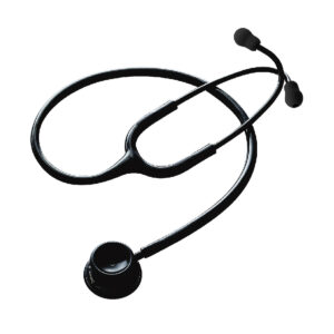 Spirit CK-S601CPF Deluxe Series Adult Dual Head Stethoscope (Solid Black)